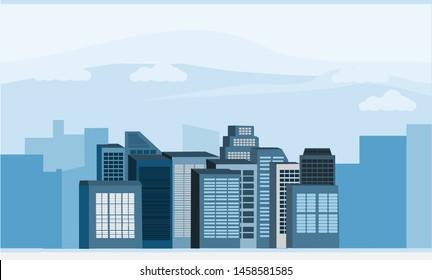 Vector of skyscrapper in the city