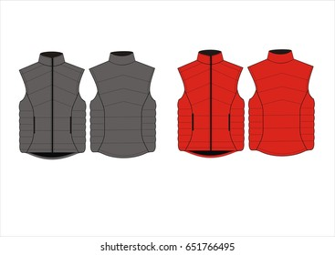 vector sleeveless jacket vest fashion illustration