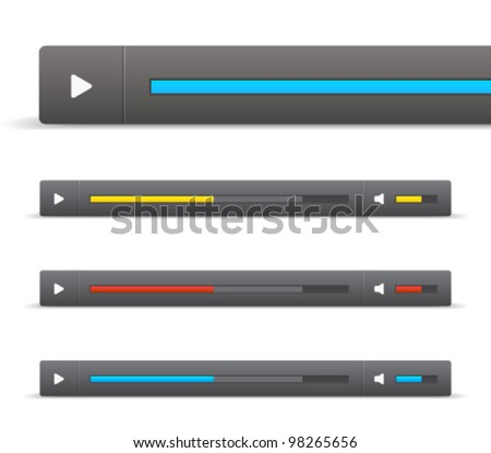 Vector Slider Scroll Bar Set Stock Vector Royalty Free 98265656