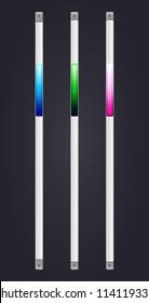 Vector Sliders Scroll web bars Set, Web Design Elements: Slider Bars. Vector Illustration, eps 10