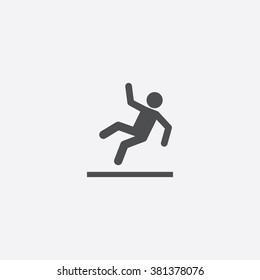 Vector slippery floor Icon