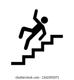 Vector Slippery stairs warning sign