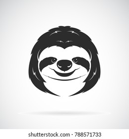 Vector of a sloth head design on white background. Wild Animals. Easy editable layered vector illustration.