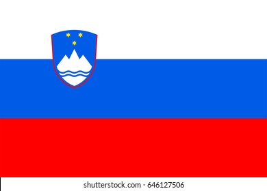 Vector Slovenia flag, Slovenia flag illustration, Slovenia flag picture, Slovenia flag image