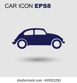 Vector small retro car icon