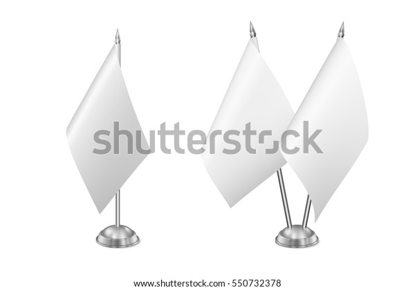 Vector Small Table Flag Set Isolated Stock Vector Royalty Free