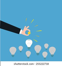 vector of a smart investment. concept of funding,innovative idea etc.