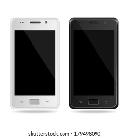 Vector Smart Phone. White and black.