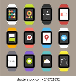 Vector Smart Watch Icons