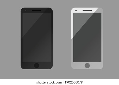 vector smartphone mockup set, mobile phone blank, cell phone