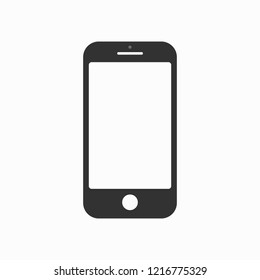 Vector smartphone placed on white background.
