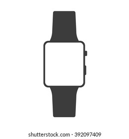 Vector smartwatch icon. Vector iwatch. Smartwatch similar to iWatch. Isolated on white.