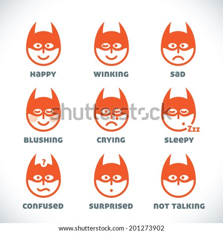 Vector Smiles Icons Illustration