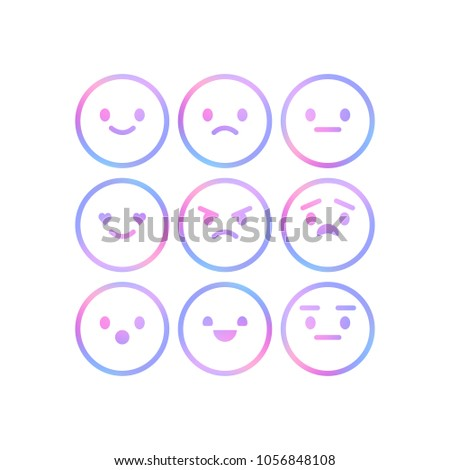 2f97d0cd1309 Vector Smiley Faces Rating Review Feedback Stock Vector (Royalty ...