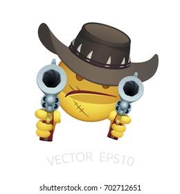 Cartoon of Man with Gun to Head Images, Stock Photos