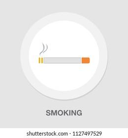 vector smoking area sign. smoking zone symbol