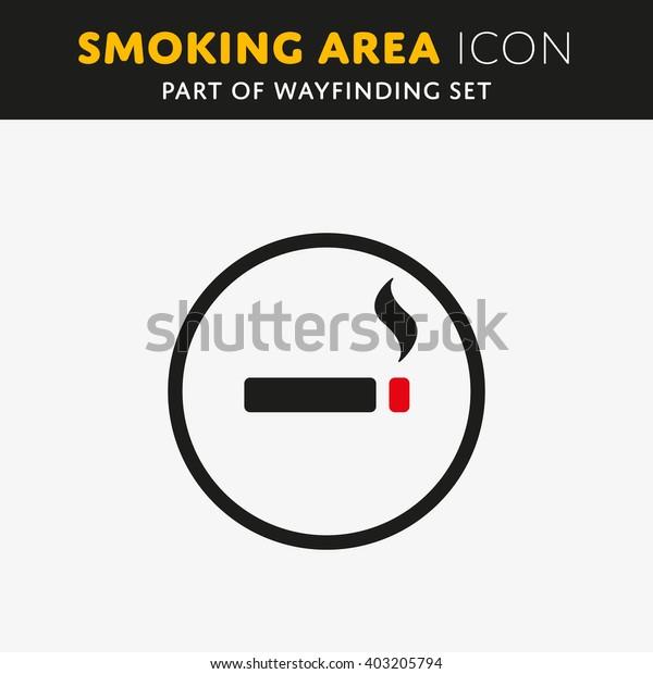 Vector smoking icon. Cigarette sign. Nicotine symbol.