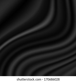 Vector smooth elegant black silk can use as background.