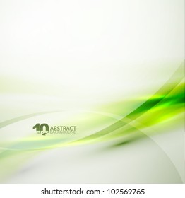 Vector smooth green wave background