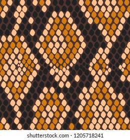 Vector snake animal seamless pattern.