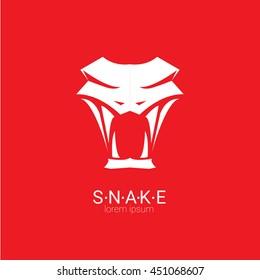 vector snake logo template. danger snake icon. viper black silhouette