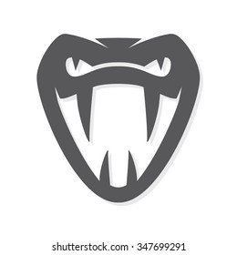 Vector snake logo template.  Viper head symbol or icon