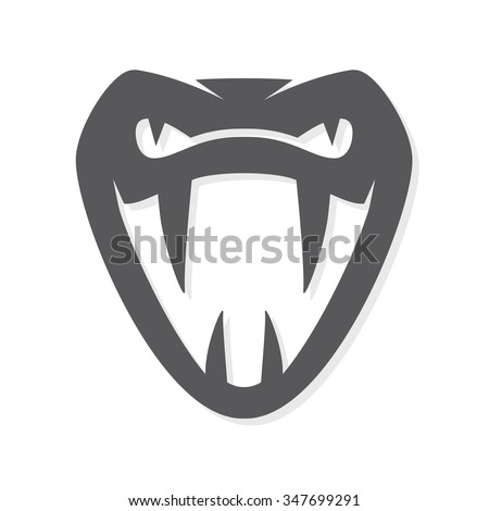 vector snake logo template viper head のベクター画像素材