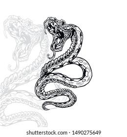 Vector Snake. Python. Venom. T-shirt Design. Snake
