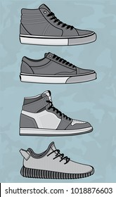 Vector sneakers, Vector EPS 10