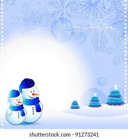 vector snow man design background