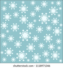 Vector of Snow Seamless Pattern. EPS10 Vector Image.