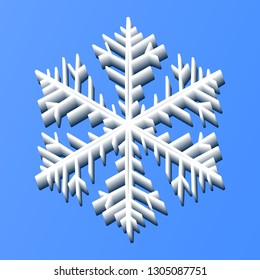 Vector snowflake made of ice