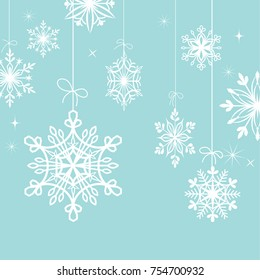 Vector of snowflakes for background