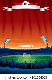 Vector Soccer Background with Copy space. Template For your Text and Design