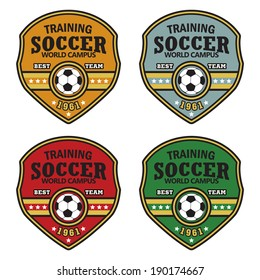 Vector soccer badge / Vector soccer labels / Soccer emblems / Football Soccer Club emblem / Vector Soccer ( T-shirt Printing Design )