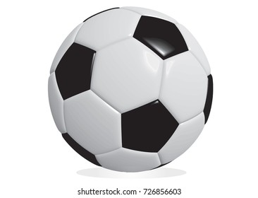 vector soccer ball closeup image. soccer ball isolated on white background.