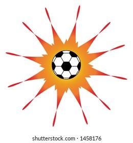 Vector soccer ball design