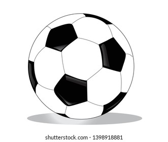 Vector soccer ball isolated on white background