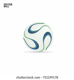 Vector Soccer ball. Isolated On White Background. Vector Illustration.