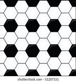 vector soccer ball pattern