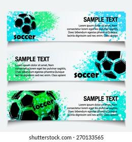 Vector Soccer banner with gauge design ( Even Soccer Banner Design )