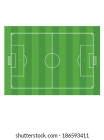 Vector soccer pitch