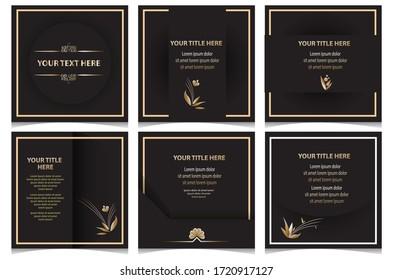 Vector social media banner black color. Editable file in eps.10