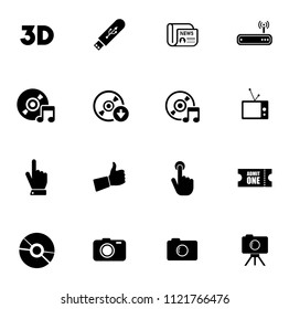 vector social media and multimedia sign symbols - communication icons set.