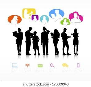 Vector of social media networking.
