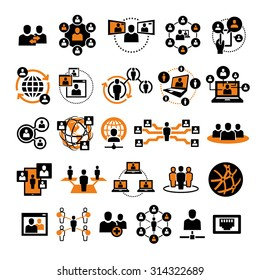 Vector Social People Network Icons