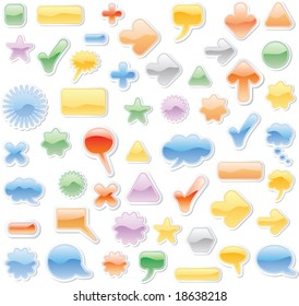 vector soft clouds