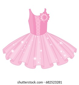 Vector soft pink tutu dress. Vector ballerina's tutu dresses.  Ballet dress  vector illustration