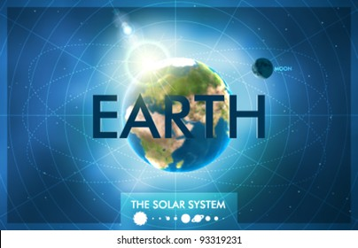 Vector Solar System - Planet Earth