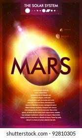 Vector Solar System - Planet Mars